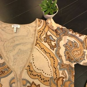 Patterned Escada button up sweater